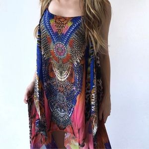 Dresses & Skirts - BNWT High low caftan with stone embellishment